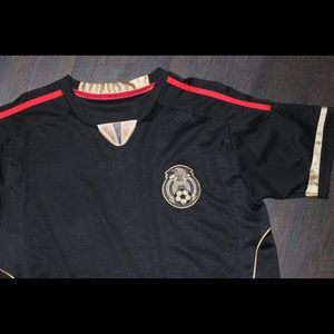 Other - Black Mexico Soccer Team Uniform Set